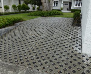 Permeable car pad near Meola Creek,